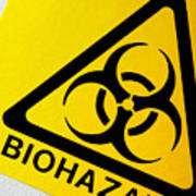 Biohazard Symbol Poster by Tim Vernon, Nhs Trust