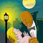 Black Dracula Poster by Aloysius Patrimonio