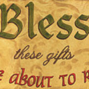 Bless These Gifts Poster by Debbie DeWitt