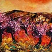 Blooming Cherry Trees Poster by Pol Ledent