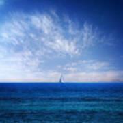 Blue Mediterranean Poster by Stelios Kleanthous
