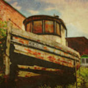 Boat At Apalachicola Poster by Toni Hopper