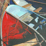 Boats At The Dock Poster by Jim Peirce