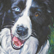 Border Collie Poster by Lee Ann Shepard