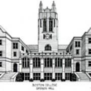 Boston College Poster by Frederic Kohli