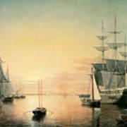Boston Harbor Poster by Fitz Hugh Lane