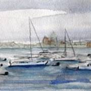 Boston Harbor  Poster by Julie Lueders