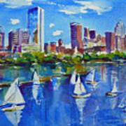 Boston Skyline Poster by Diane Bell