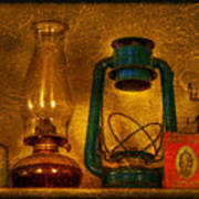 Bottles And Lamps Poster by Evelina Kremsdorf