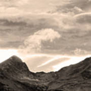 Boulder County Indian Peaks Sepia Image Poster by James BO  Insogna