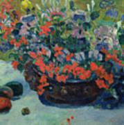 Bouquet Of Flowers Poster by Paul Gauguin