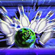 Bowling Sign - Strike Poster by Steve Ohlsen