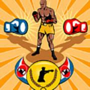 Boxer Boxing Poster Poster by Aloysius Patrimonio