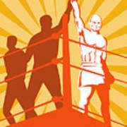 Boxing Champion Poster by Aloysius Patrimonio