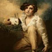 Boy And Rabbit Poster by Sir Henry Raeburn