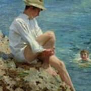 Boys Bathing Poster by Henry Scott Tuke
