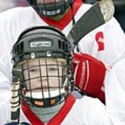 Boys Playing Ice Hockey Poster by Ria Novosti
