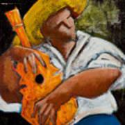 Bravado Alla Prima Poster by Oscar Ortiz