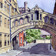 Bridge Of Sighs. Hertford College Oxford Poster by Mike Lester