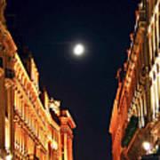 Bright Moon In Paris Poster by Elena Elisseeva