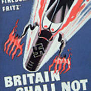 Britain Shall Not Burn Print By English School