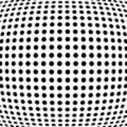 Bulge Dots Poster by Michael Tompsett