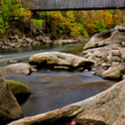 Bulls Bridge - Autumn Scene Poster by Thomas Schoeller