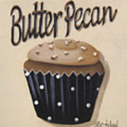 Butter Pecan Cupcake Poster by Catherine Holman