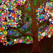 Button Tree 0007 Poster by Monica Furlow