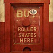 Buy Skates Here Poster by Brenda Conrad