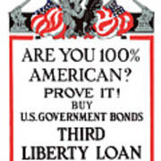 Buy U.s. Government Bonds Poster by War Is Hell Store