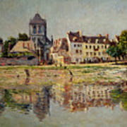 By The River At Vernon Poster by Claude Monet
