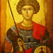 Byzantine Knight Poster by Ellen Henneke