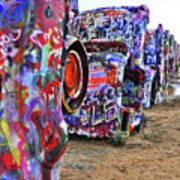 Cadillac Ranch Poster by Angela Wright