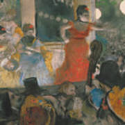 Cafe Concert At Les Ambassadeurs Poster by Edgar Degas