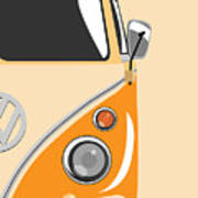 Camper Orange 2 Poster by Michael Tompsett