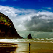 Cannon Beach At Dusk IIi Poster by David Patterson