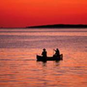 Canoe Fishing Poster by John Greim