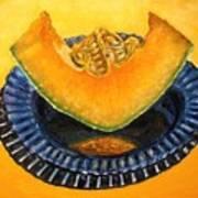 Cantaloupe Oil Painting Poster by Natalja Picugina