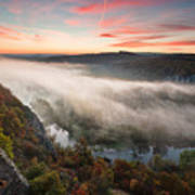 Canyon Of Mists Poster by Evgeni Dinev