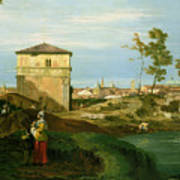 Capriccio With Motifs From Padua Poster by Canaletto