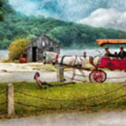 Car - Wagon - Traveling In Style Poster by Mike Savad