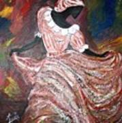 Caribbean Dancer Poster by Laura Fatta