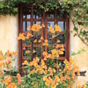 Carmel Mission Window Poster by Carol Groenen