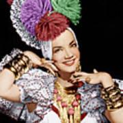 Carmen Miranda, Ca. 1940s Poster by Everett