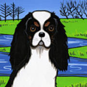 Cavalier King Charles Spaniel Poster by Leanne Wilkes