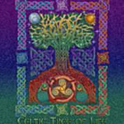Celtic Tree Of Life Poster by Kristen Fox