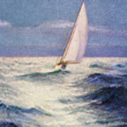 Chas Marer - Sailboat Poster by Hawaiian Legacy Archive - Printscapes