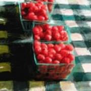 Cherry Tomato Basket Poster by RG McMahon