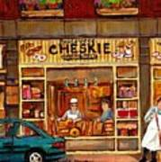 Cheskies Hamishe Bakery Poster by Carole Spandau